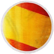 Spain Flag Round Beach Towel