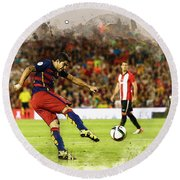 Spain Spanish Super Cup Round Beach Towel
