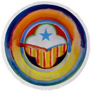 Spanish American Round Beach Towel