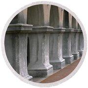 Spanish Columns Round Beach Towel