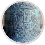 Spanish Crest 1764 Round Beach Towel