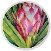 Spanish Dagger Iv Round Beach Towel