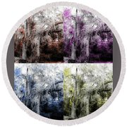 Spanish Moss Beauty Of Color Round Beach Towel