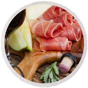 Spanish Tapas Round Beach Towel