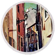 Spanish Town Round Beach Towel