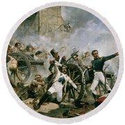 Spanish Uprising Against Napoleon In Spain Round Beach Towel