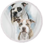 Sparkle And Buster Round Beach Towel