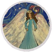 Sparkle Angel Round Beach Towel