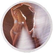 Sparkling Dance Round Beach Towel