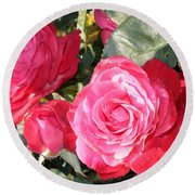 Sparkling Roses Round Beach Towel