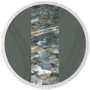 Sparkling Water On Rocky Creek 1 Round Beach Towel