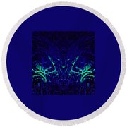 Sparkly Blues In. A Round Beach Towel