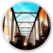 Sparksville Bridge Round Beach Towel