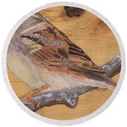 Sparrow 2 Round Beach Towel