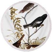 Sparrows Round Beach Towel by John James Audubon