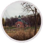 Spaulding Church Round Beach Towel
