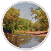 Spavinaw Creek Round Beach Towel