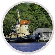 Special Seaport Visitor Round Beach Towel