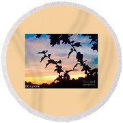 Special View Of Sunset Round Beach Towel