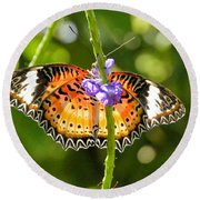 Speckled Butterfly Round Beach Towel