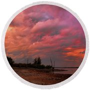 Spectacular Morning Round Beach Towel