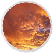 Spectacular Sunrise Round Beach Towel