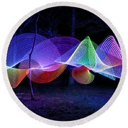 Spectrum Trees Round Beach Towel