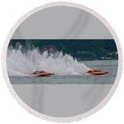 Speedboat Trials 1961 Round Beach Towel