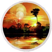 Spektrel Reflected 2 Round Beach Towel