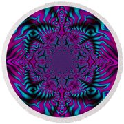 Spellbound - Abstract Art Round Beach Towel