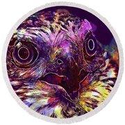 Sperber Raptor Plumage Bird Of Prey  Round Beach Towel