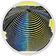 Sphere In Yellow Round Beach Towel