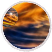 Sphere Of Influence Round Beach Towel