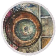 Spheres Abstract Round Beach Towel
