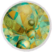 Spheres Of Life's Changes Round Beach Towel