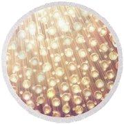 Spheres Of Light Round Beach Towel