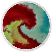 Spherical Colours Round Beach Towel
