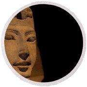Sphinx On Black Round Beach Towel