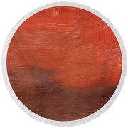 Spice- Abstract Art By Linda Woods Round Beach Towel
