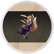 Spice And Wolf Round Beach Towel