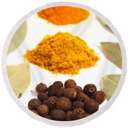 Spices Round Beach Towel