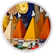 spices of Morocco Round Beach Towel