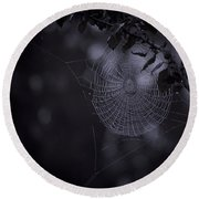 Spider Art Round Beach Towel