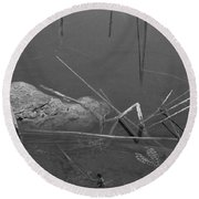 Spider In Water Round Beach Towel