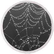 Spider Web Patterns Round Beach Towel