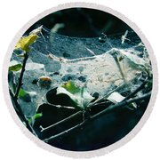 Spider Web  Round Beach Towel