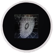Spider's Web Round Beach Towel