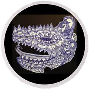 Spike Dragon Round Beach Towel
