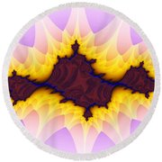 Spikey Flower Round Beach Towel