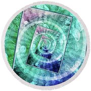 Spinning Nickels Into Infinity Round Beach Towel